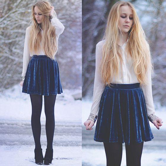 17 Best images about Velvet Skirts u0026 Dresses on Pinterest | Red velvet Skirts and Velvet skirt