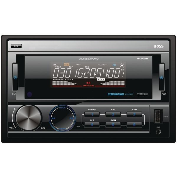 BOSS AUDIO 812UAB Double-DIN In-Dash Mechless Receiver with Bluetooth(R) – ResellerHub.store