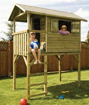 Wooden Raised Tom Play House | Internet Gardener