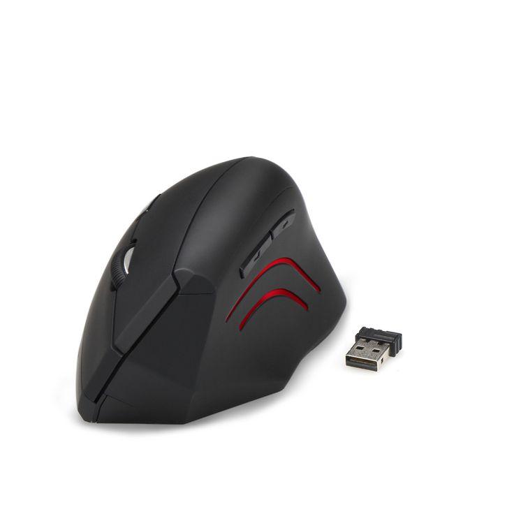 TeckNet 2016 new 2.4G Nano Vertical Ergonomic Optical Mouse 3 Adjustable DPI Levels 2000/1500/1000dPi 6 Buttons for pc computer