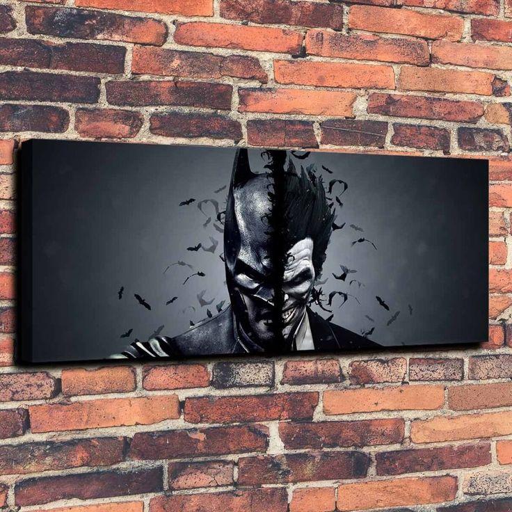 Joker Batman Art Print Oil Painting on Canvas Home Decor Unframed | eBay