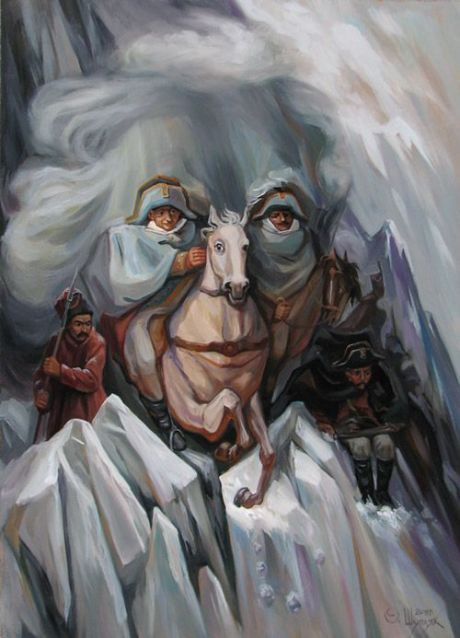 Famous Faces in Optical Illusion Paintings - My Modern Met