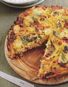 Spaghettitaart van Jamie Oliver