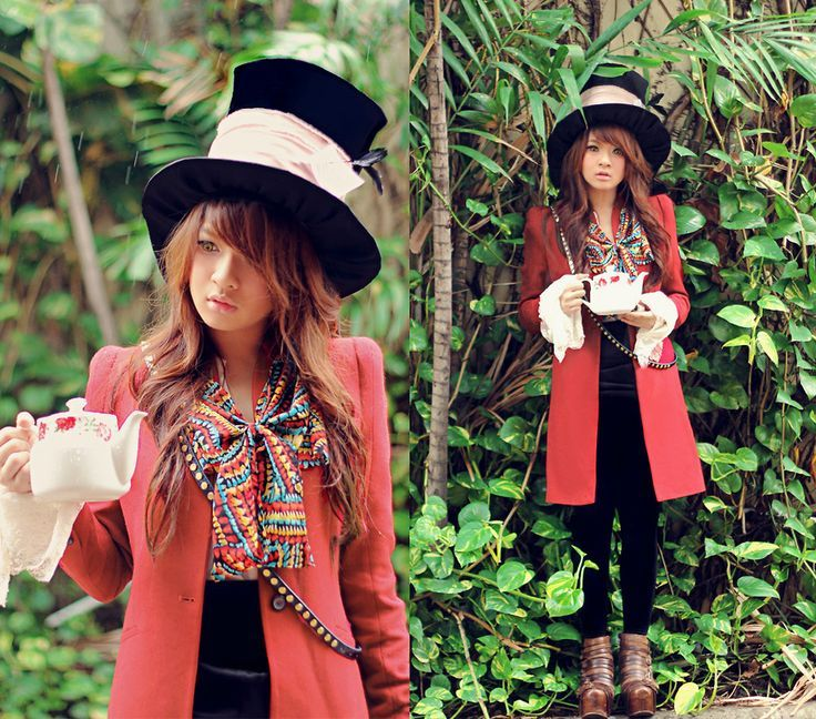diy female mad hatter costume - Google Search                                                                                                                                                                                 More