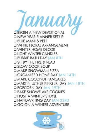 January Life List – The Glam Shop
