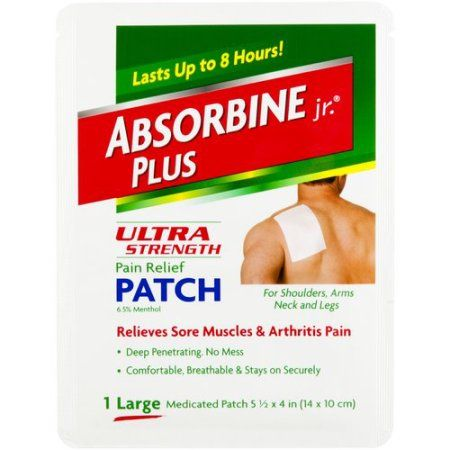 Absorbine Jr. Plus Large Ultra Strength Pain Relief Patch