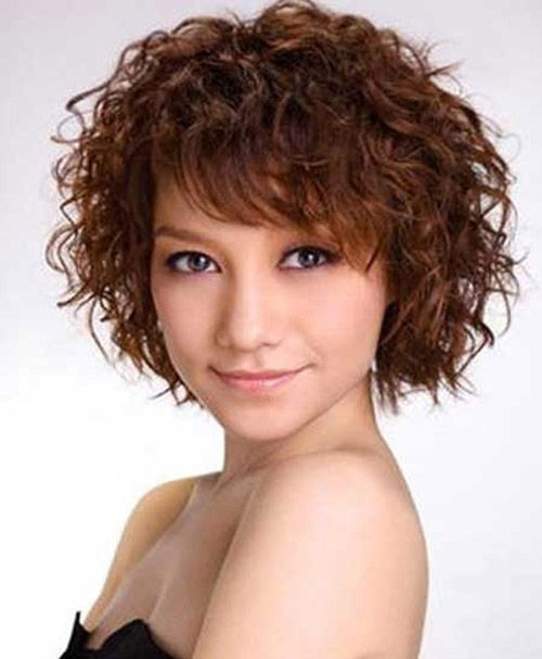 cute short haircuts for thick curly hair