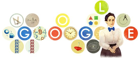 Today on the Google home page is a special Google logo, aka Doodle for the 133rd birthday of Emmy Noether.      The logo is to remember one of the most significant mathematicians ever to live...