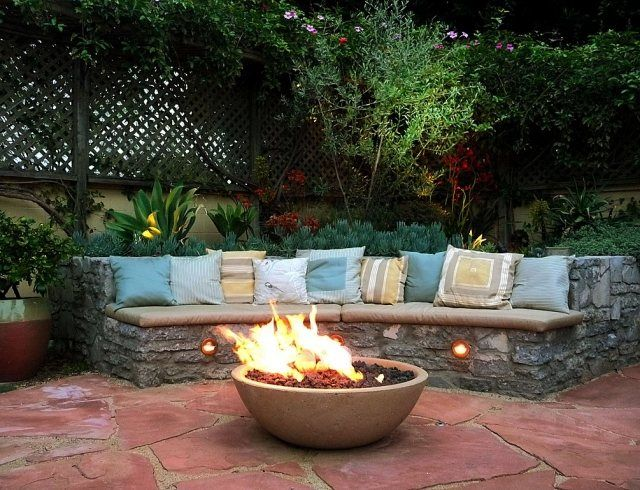 98 best Im Freien images on Pinterest Garden, Landscaping and - feuerschale im garten