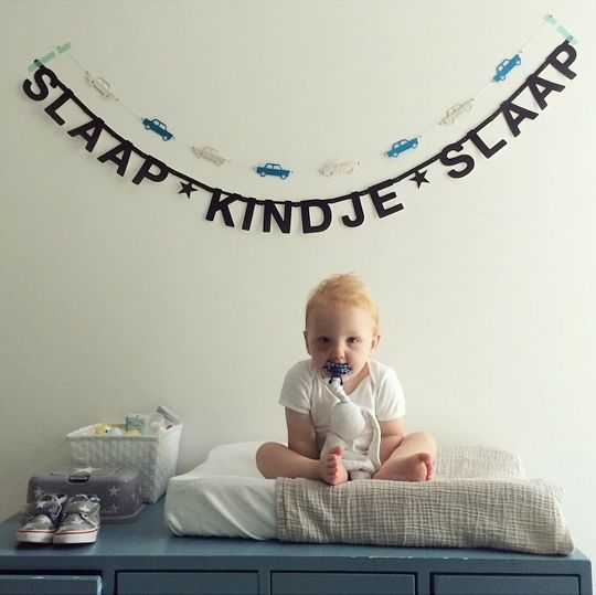 #Wordbanner #tip: #Slaap kindje slaap - Buy it at www.vanmariel.nl - € 11,95, 2 for € 20