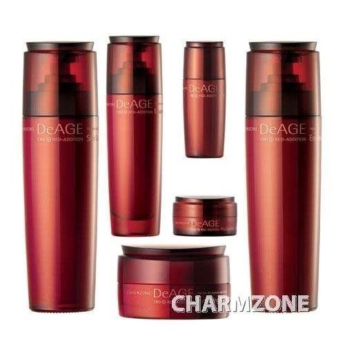 charm zone deage red addition toner emulsion cream essence set korean import - Coloration Semi Permanente Rouge