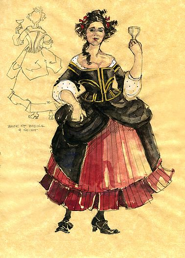 Twelfth Night (Maria). American Players Theatre. Costume design by Rachel Anne Healy.
