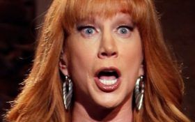 "06-02-2017  Comedian Kathy Griffin wants everyone to stop talking about the nasty photo she made making light of beheading the president — and she's blaming Donald Trump and ""old white guys"" for the backlash. The controversial photo was created by Griffin and shows her holding the bloody, severed head of..."