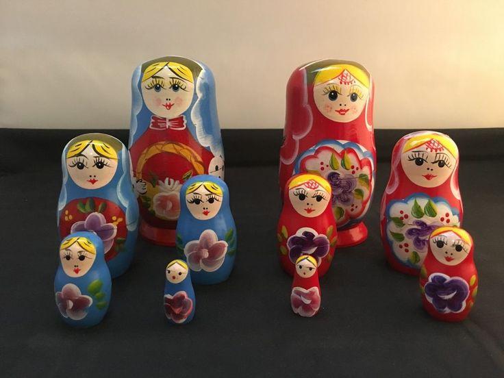 Vintage Matryoshka Babushka Sisters - 10 Russian Nesting Dolls Set (Code: 2017C) in Dolls, Bears, Babushka Dolls   eBay!