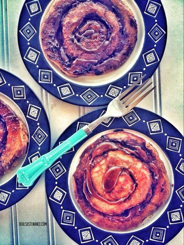 Pumpkin & Salted Caramel Cinnamon Roll Pancakes (Paleo, Gluten/Grain/Dairy Free) - Real Sustenance