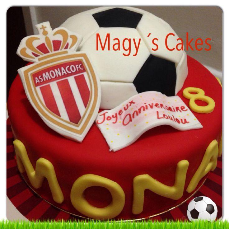 AS MONACO FC CAKE ! ASMONACOFC made by me Magyrubel Gonzalez  #asmonacofc  #soccer #cake #soccercake #asmonacocake