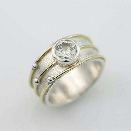 Stones Set Stationary Orbit Ring