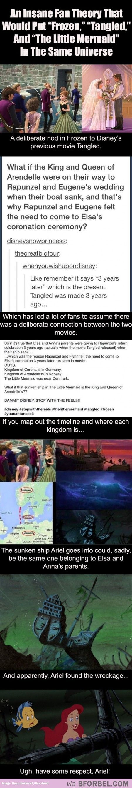"Now ""The Little Mermaid"" Is Involved With ""Frozen"" And ""Tangled"" Too?"
