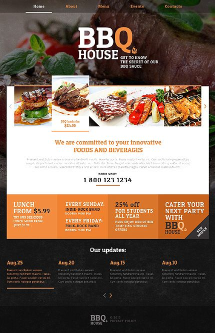 Cafe And Restaurant Most Popular Responsive Javascript