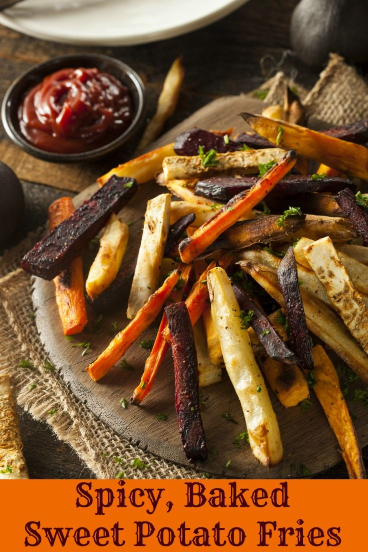 These Spicy Baked Sweet Potato Fries are a great healthy alternative to regular fries!