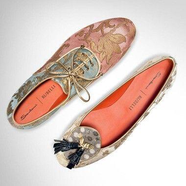 #Chausseur   Santoni Rubelli    Natasha embroiderie pink sky   #Shoes