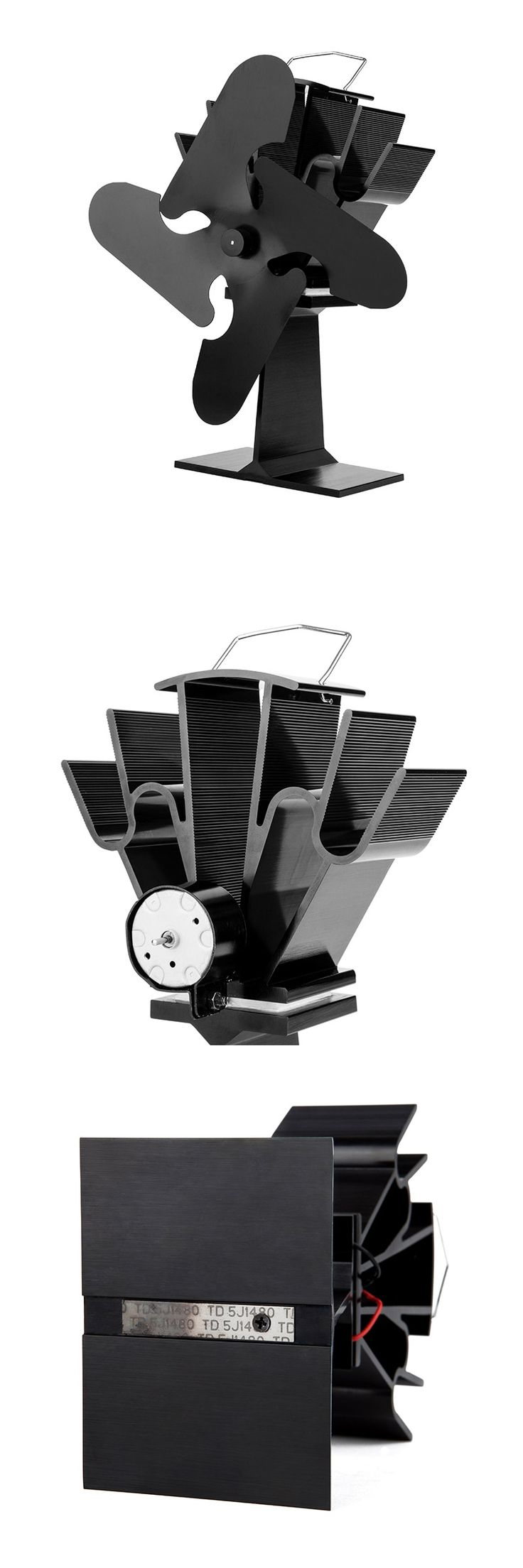Classic Model 4 Blade Heat Powered Stove Fan Wood Burning Stove Fan