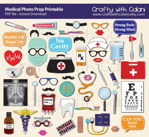 Make your medical theme party much more fun and memorable with these photo booth prop. INSTANT DOWNLOAD Once payment is confirmed, you will