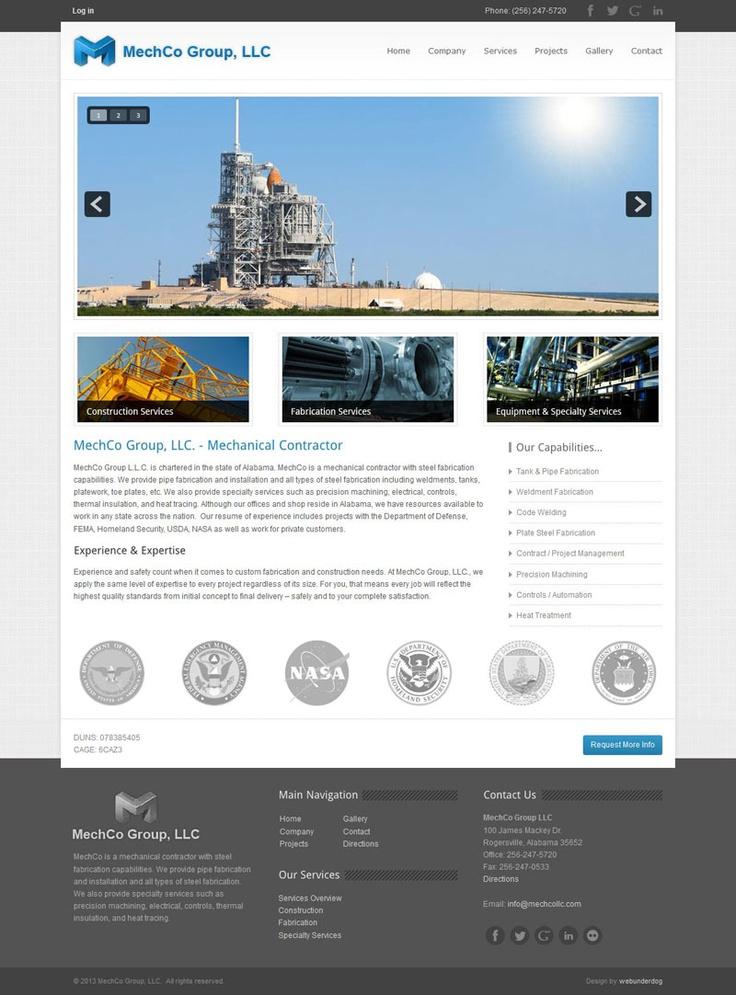 MechCo Group, LLC #webdesign by webunderdog. Built on Joomla 2.5 #business #corporate
