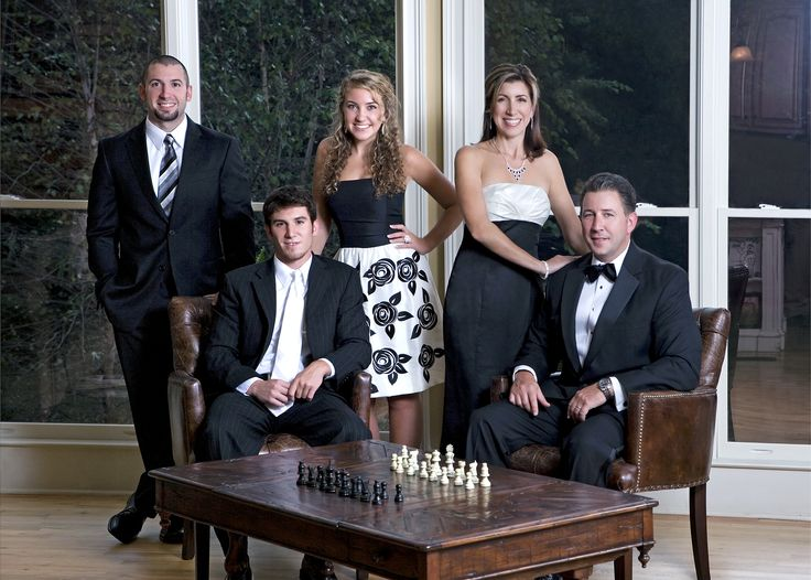 Formal Family Portrait in client home by Darrah Photo.
