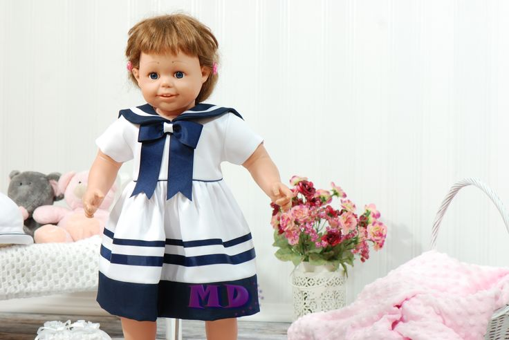 Sukienka Basia marynarska