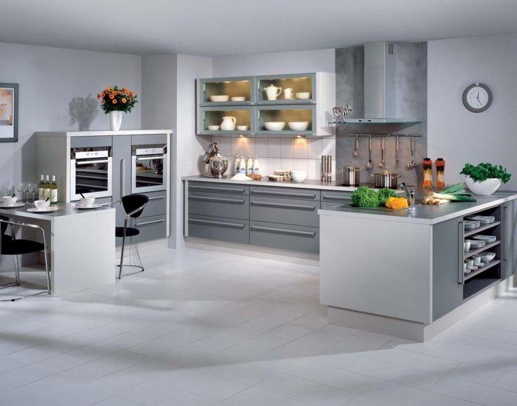 Cute grey kitchen