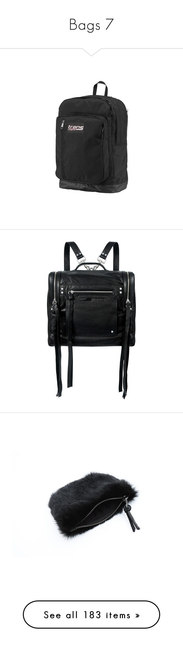 """""""Bags 7"""" by k-ura ❤ liked on Polyvore featuring bags, backpacks, jansport backpack, jansport rucksack, daypack bag, day pack backpack, rucksack bags, accessories, leather zip backpack and studded backpack"""