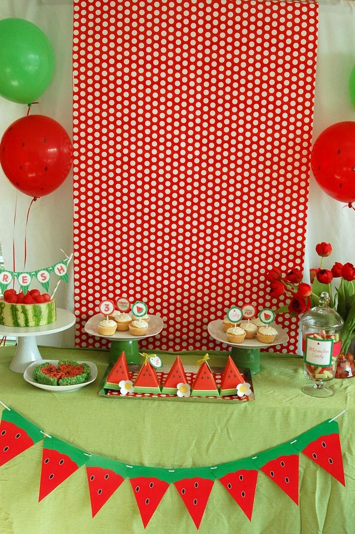 Watermelon-PartyPolka Dots, Watermelon Parties, Birthday Parties, Summer Parties, Watermelon Party, 1St Birthday, Parties Ideas, 2Nd Birthday, Birthday Ideas