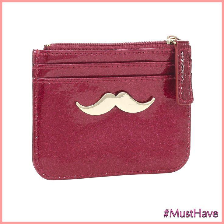 Monedero #mustache de @accessorizecolombia