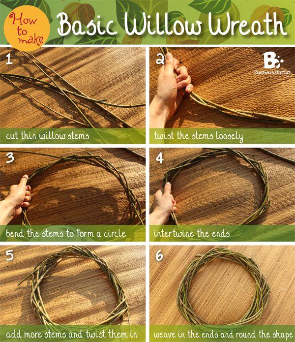 Basic Willow Wreath Tutorial / Einfache Anleitung für einen Weidenkranz #DIY #Tutorial