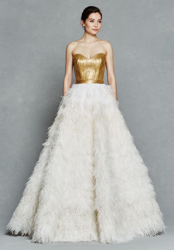 Kelly Faetanini Bridal Collection 2017 feather gown #weddingdress #bridal