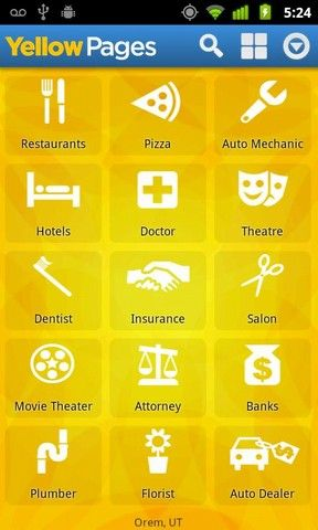 Yellow Page App | Yellow Pages Android App Review Download Yellow Pages for Android