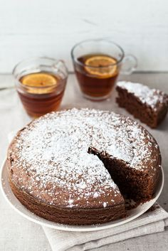 Torta al Cioccolato con Olio d'Oliva