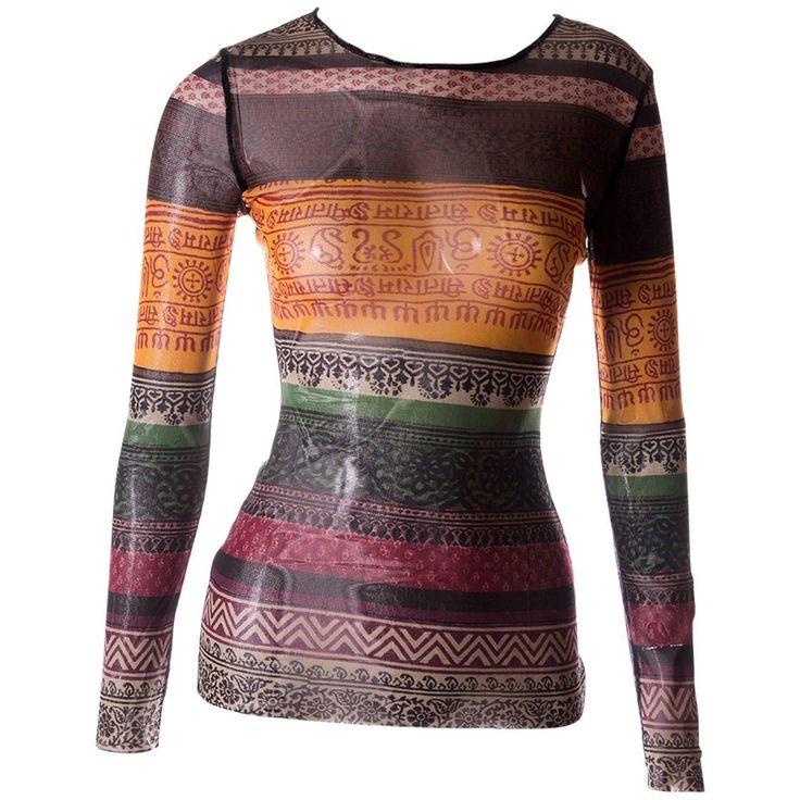 Jean Paul Gaultier Sheer Tribal Shirt | 1stdibs.com