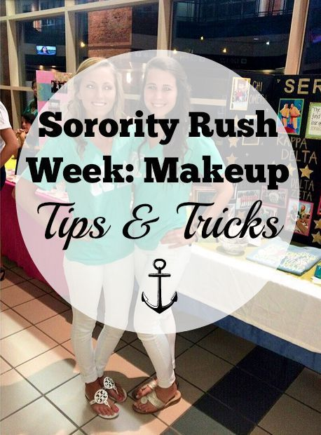 sorority rush week makeup tips