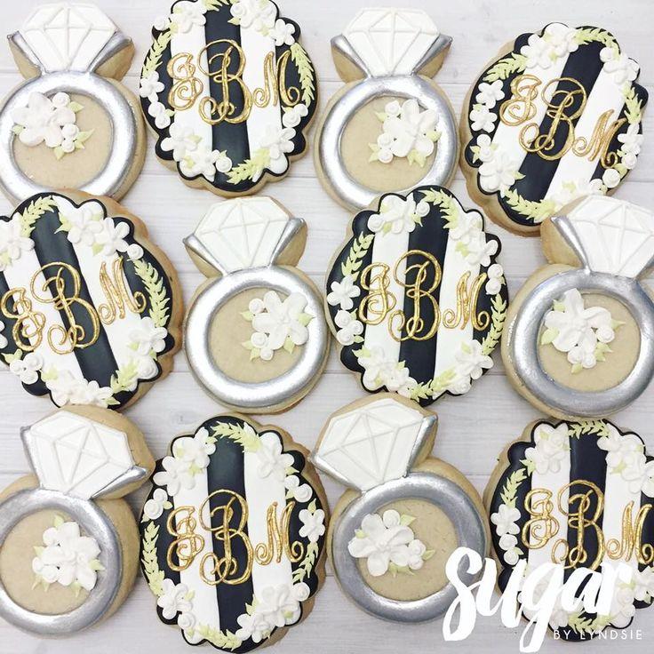 Lately Sugar By Lyndsie Wedding Cookies Pinterest