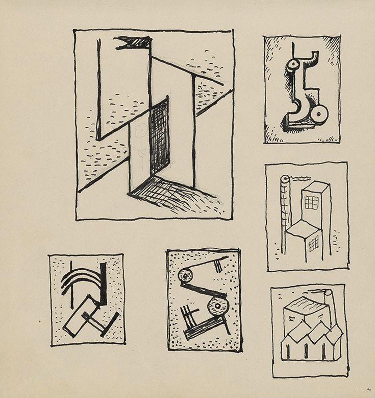 Mikuláš Galanda – Skicár s rôznymi štúdijnými kresbami, 1929-1931