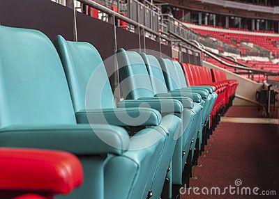 Visiting Wembley stadium. the seats of the royal family. London, the UK