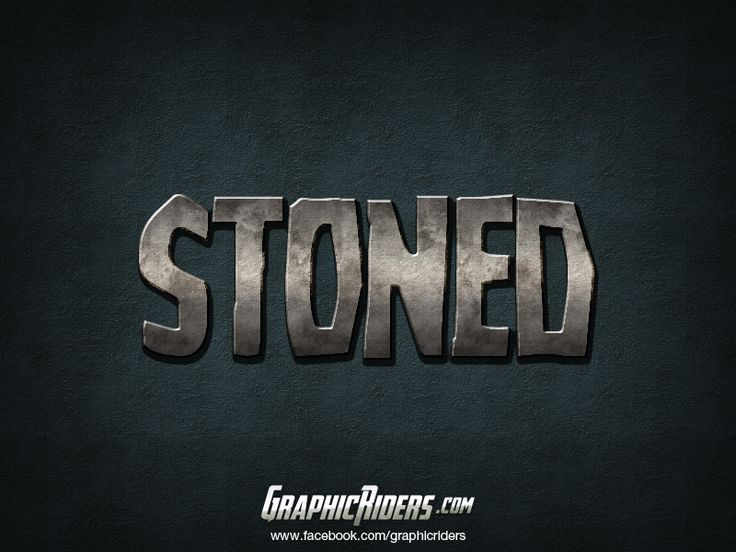 Layer style – Stoned (free photoshgop layer style, text effect, free psd file) #graphicriders