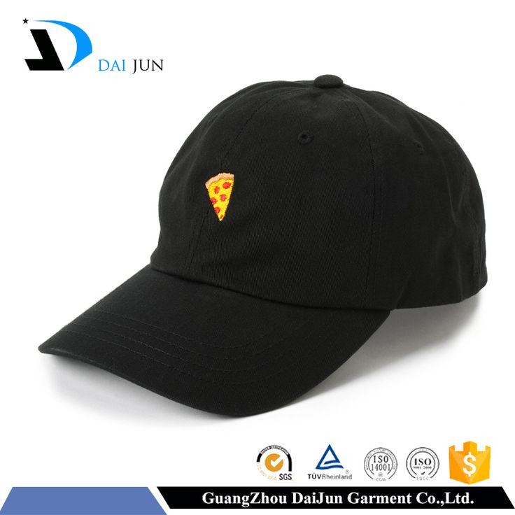 Daijun OEM new design enbroidered logo black cotton baseball 6 panel cap #baseball, #design