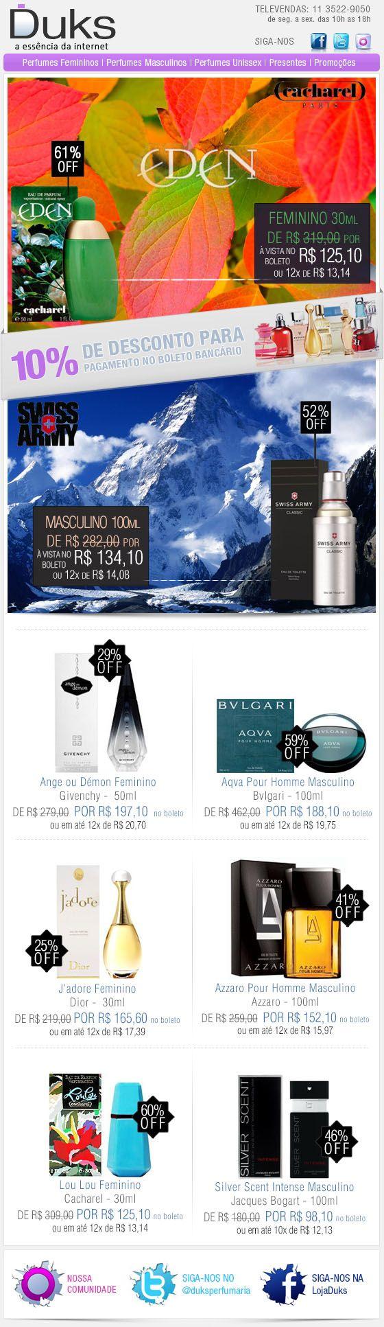 E-mail Marketing Duks Perfumes Promoção 18/12/2013 http://www.duks.com.br/sistema/custom.asp?IDLoja=11220&arq=emkt_12_18.htm&int=1&origem=emailmkt