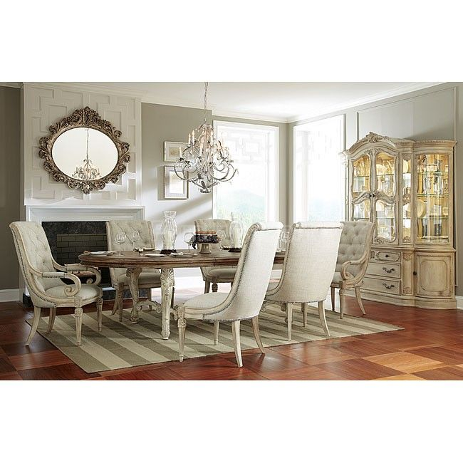 Jessica McClintock The Boutique Oval Dining Set W/ Upholstered Chairs