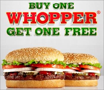*HOT* Burger King Coupon | B1G1 FREE Whopper Sandwich - http://www.savingeveryday.net/2012/12/hot-burger-king-coupon-b1g1-free-whopper-sandwich/