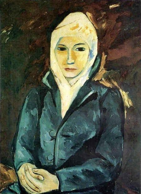 1911 Natalia Goncharova (Russian artist, 1881-1962) Portrait of a Woman