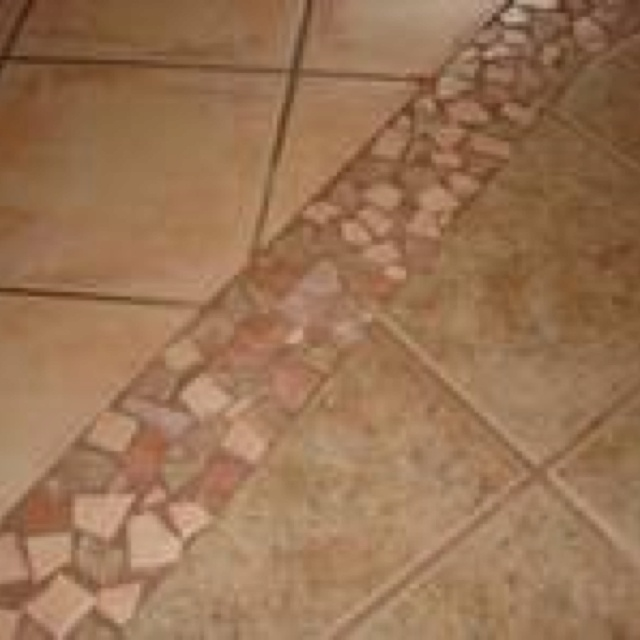 Transition From Tile To Tile Tiles Patio Tiles Tile To